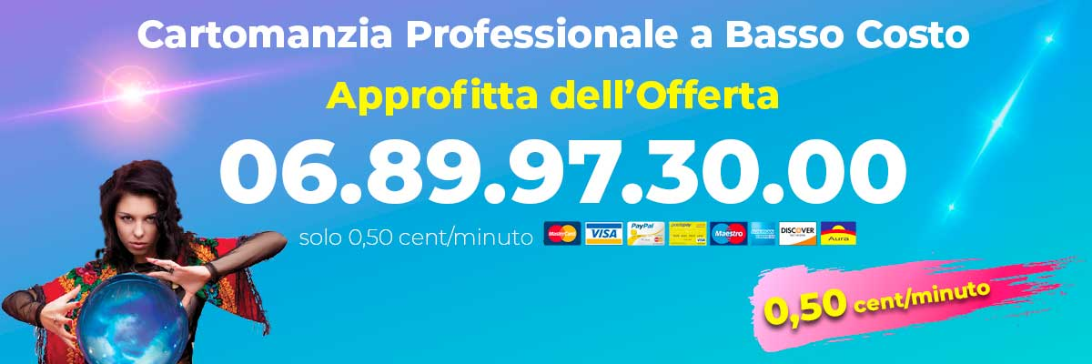 cartomanzia 0,50 in offerta